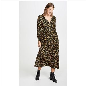 Free People Tiers of Joy Long Sleeve Midi Dress